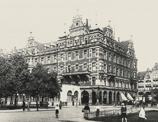 Hotel Danziger Hof na początku XX wieku.