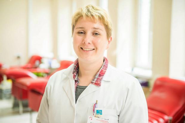 Lek. Anna Jaźwińska-Curyłło, zastępca dyrektora ds. medycznych w Regionalnym Centrum Krwiodawstwa i Krwiolecznictwa w Gdańsku.