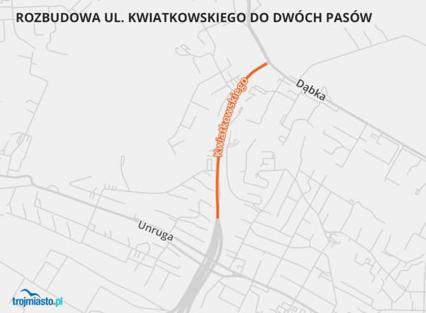 Ten odcinek Trasy Kwiatkowskiego zostanie rozbudowany.