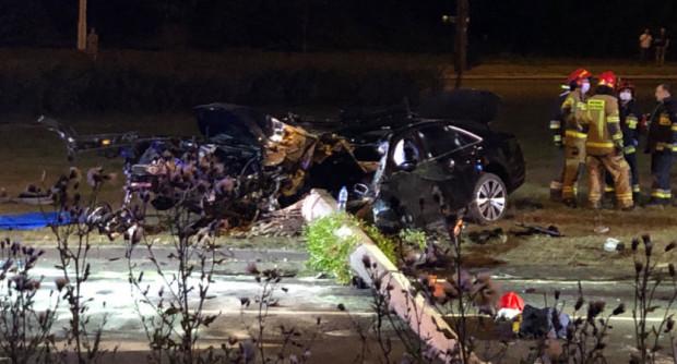 Skutki wrześniowego wypadku na Wielkopolskiej w Gdyni.