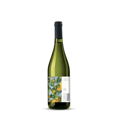 Białe wina z Winnicy Rymanów. Na zdjęciu Gris 8. Splecione aromaty dojrzałych owoców moreli i jabłka, białym pieprzem i miętą.