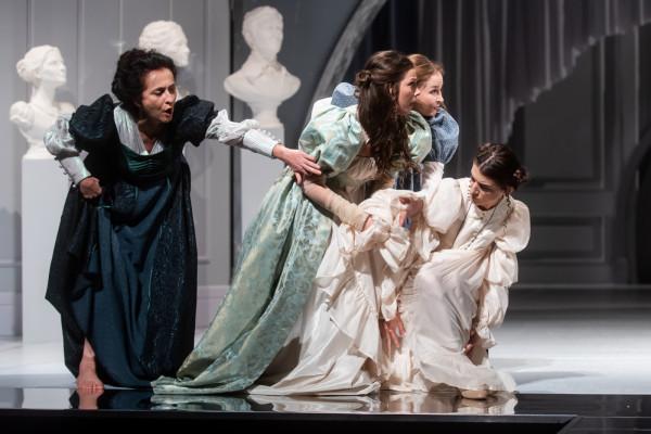 Rodzina Dashwoodów, pozbawiona męskiego oparcia, musi mierzyć się z trudną sytuacją materialną. W spektaklu Aliny Moś-Kerger historia z powieści Jane Austen została zgrabnie zaadaptowana przez Sandrę Szwarc.