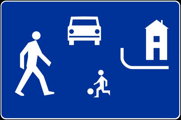 Znak informujący o strefie zamieszkania