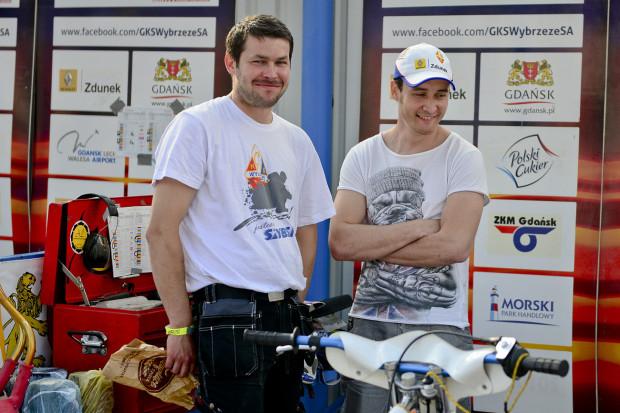 Eryk Jóźwiak ( z lewej) z Renatem Gafurowem, rok 2013.