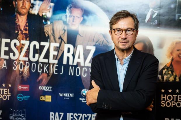 """Piotr Cyrwus, premiera filmu """"Raz, jeszcze raz"""" w Gdyńskim Centrum Filmowym."""