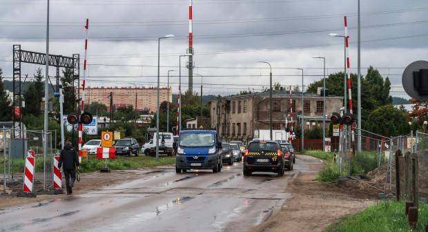 Przejazd kolejowy na ulicy Puckiej, gdzie powstanie wiadukt.