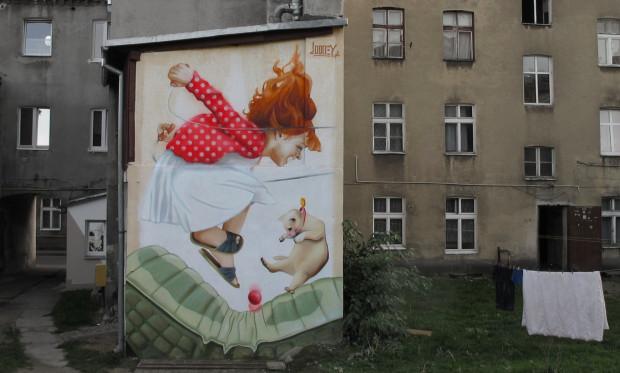 Mural przy ulicy Szarej w Gdańsku-Siedlcach.
