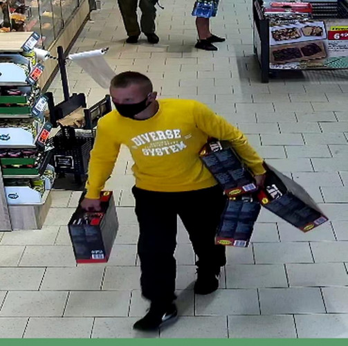 Mężczyzna poszukiwany w związku z kradzieżą młotowiertarek.
