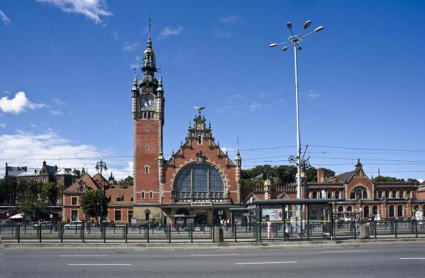 Dworzec PKP Gdańsk Główny.