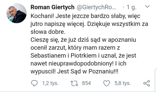 Do decyzji poznańskiego sądu odniósł się Roman Giertych.