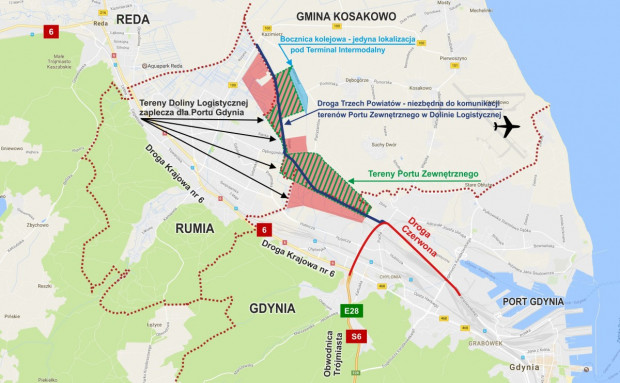 Według najnowszej koncepcji Droga trzech powiatów ma zostać połączona z Drogą Czerwoną.