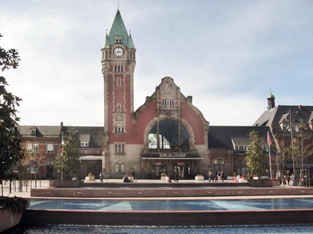Dworzec w Colmar we Francji.