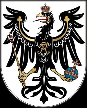 Herb Królestwa Prus w latach 1701-1918.