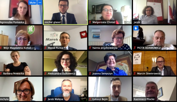 Spotkanie posłów i samorządowców ws. ustawy metropolitalnej odbyło się wirtualnie.