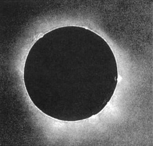 Dagerotyp Berkowskiego przedstawiający zaćmienie Słońca w Królewcu.