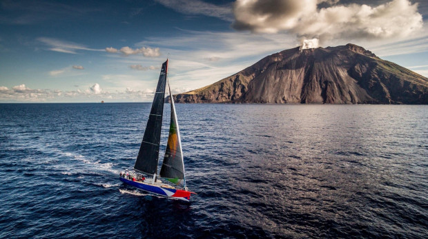 """""""E1"""" was second in the Rolex Middle Sea Race among monohull yachts."""