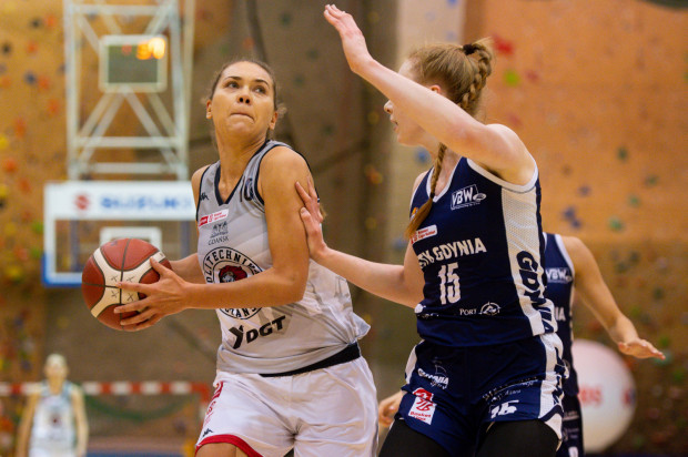 Kateryna Rymarenko zdobyła 15 pkt dla Politechniki w wygranych derbach z GTK.
