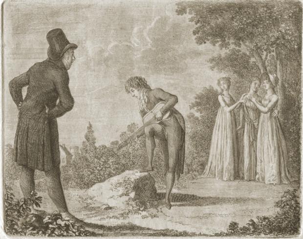 """Daniel Chodowiecki, """"Monsieur de Vollange"""", akwaforta, 1798, E.884 © kolekcja prywatna, Kraków"""