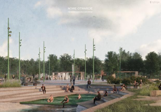 Zwycięska koncepcja Placu Nadwodnego wyłoniona w ubiegłorocznym konkursie.
