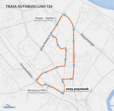 Nowy przystanek będzie zlokalizowany pomiędzy przystankami Mickiewicza i Biała.