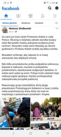 Refleksje fotoreportera Mateusza Słodkowskiego relacjonującego sobotnie manifestacje.