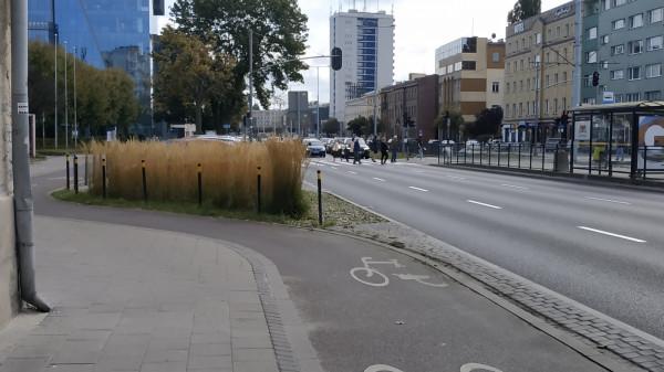 Droga rowerowa pomiędzy ulicami Lendziona a Klonową we Wrzeszczu