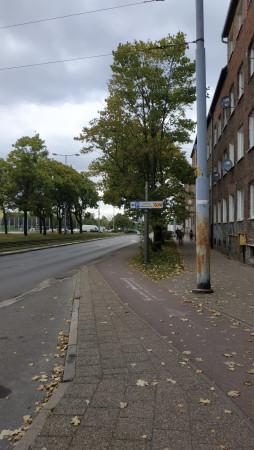 Droga rowerowa pomiędzy Tadeusza Kościuszki a Hynka.