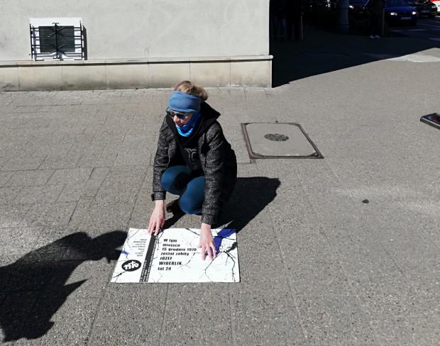 Planowana lokalizacja i wymiary tablicy przy Urzędzie Miejskim.