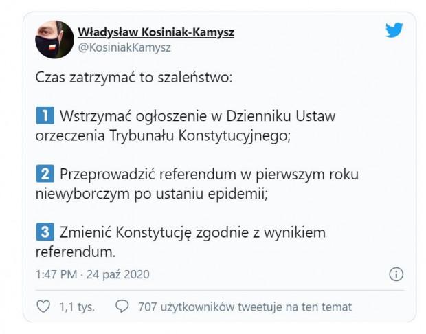 Swój pomysł Władysław Kosiniak-Kamysz ogłosił na Twitterze.