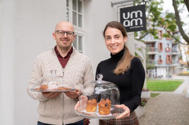 Krzysztof Ilnicki i Justyna Ilnicka, właściciele cukierni UMAM