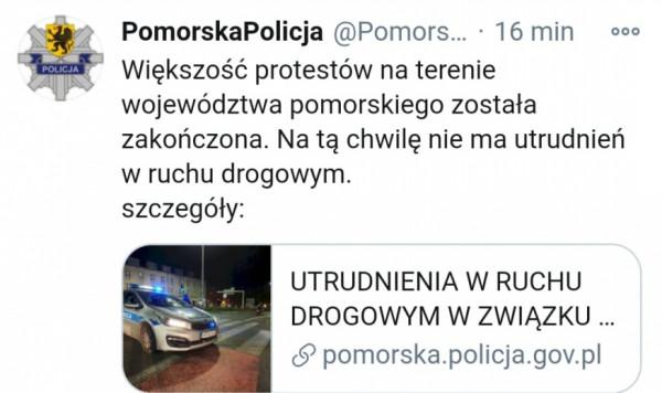 Komunikat pomorskiej policji.