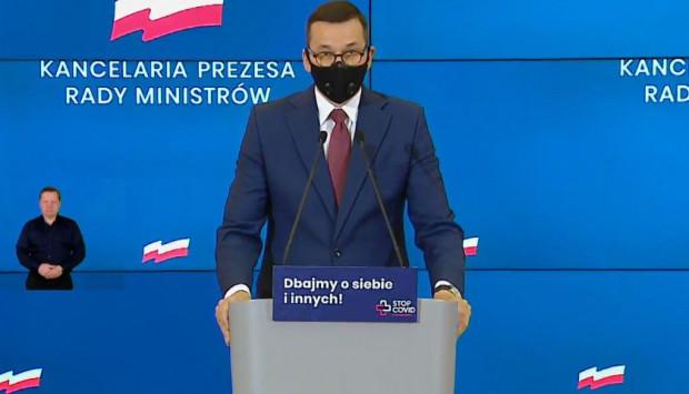 Premier Mateusz Morawiecki ogłosił wsparcie dla firm dotkniętych pandemią.