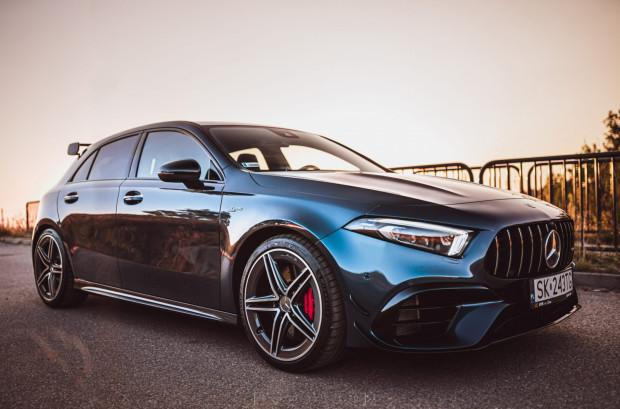 Mercedes-AMG A45S to jeden z najczęstszych wyborów klientów wypożyczalni KPR Cars.