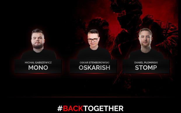 #BackTogether - z takich hasłem doświadczona trójka graczy CS:GO wraca na e-sportową scenę.