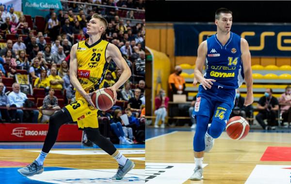 Michał Kolenda z Trefla Sopot (z lewej) i Wojciech Czerlonko z Asseco Arki Gdynia (z prawej) zgodnie przyznali, że twarda gra od początku może przesądzić o zwycięstwie.