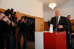 Lech Wałęsa głosował w Oliwie.