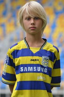 Szymon Czyż jako młody piłkarz SI Arka Gdynia.