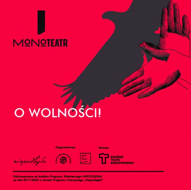 Plakat zapowiadający Festiwal Monoteatr.