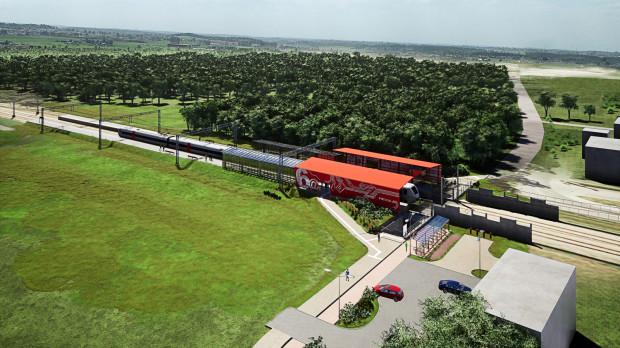 Tak będzie wyglądać nowy przystanek PKM Gdańsk Firoga między Matarnią a Portem Lotniczym w Rębiechowie.