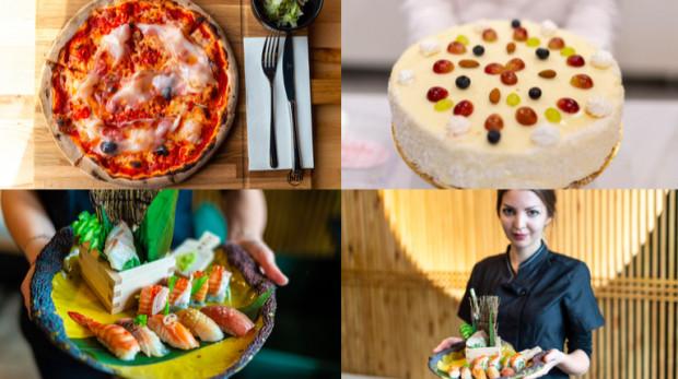 Dzisiaj odwiedzamy tylko 4 lokale i jak widać na zdjęciu - będą to miejsca serwujące: włoską kuchnie, słodkości i sushi.