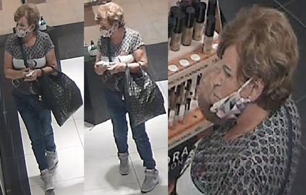 Policjanci poszukują kobiety ws. kradzieży perfum.