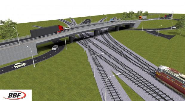 Wizualizacja wiaduktu przy ul. Ku Ujściu.