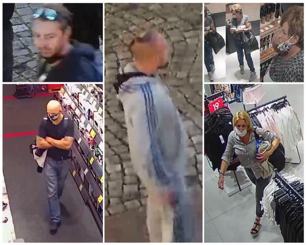 Policja publikuje wizerunki poszukiwanych osób.