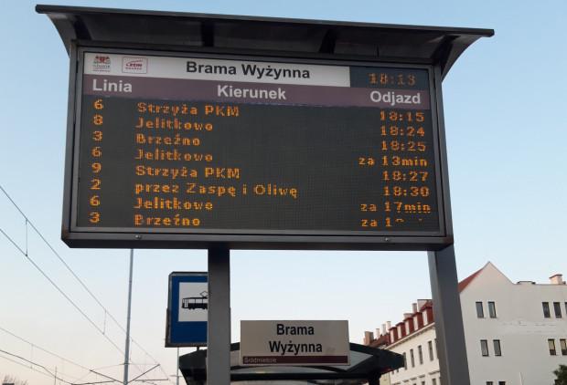 W całym Gdańsku pojawią się 84 nowe tablice z elektronicznym rozkładem jazdy.
