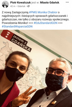 Monika Chabior zastąpi Piotra Kowalczuka, który złożył dymisję po sześciu latach na stanowisku wiceprezydenta.