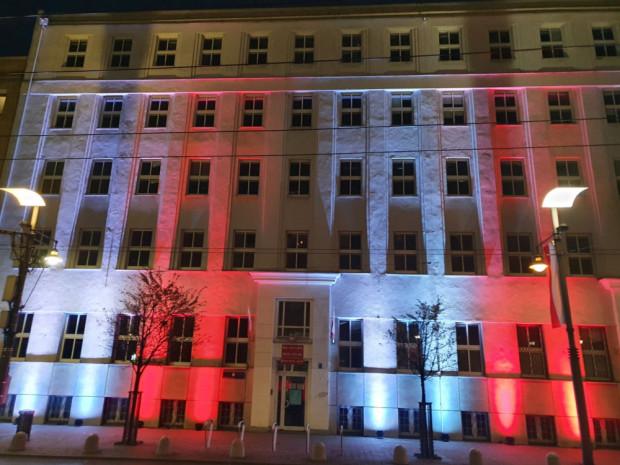 Wieczorne iluminacje w Gdyni.