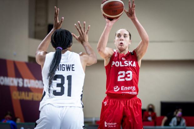 Marissa Kastanek (z prawej) zdobyła 16 punktów dla reprezentacji Polski w meczu z Wielką Brytanią.