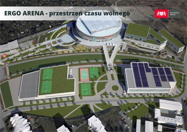 Tak według wstępnych koncepcji może w przyszłości wyglądać okolica Ergo Areny.