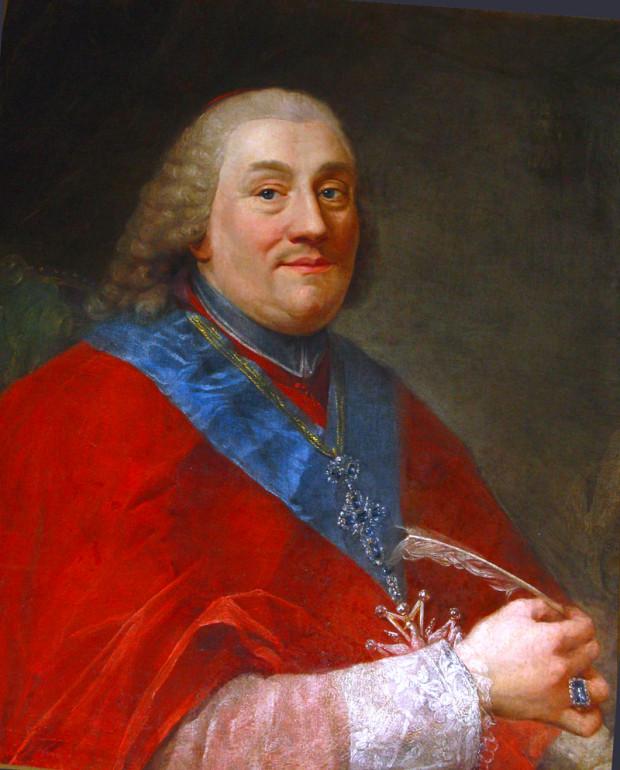 Abp Władysław Łubieński, autor podręcznika do geografii, w którym opisał także Gdańsk. Obraz Marcello Bacciarellego.