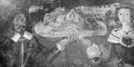 Ernest i Anna z domu Mortęska Wejherowie fundatorzy kaplicy w farze puckiej.